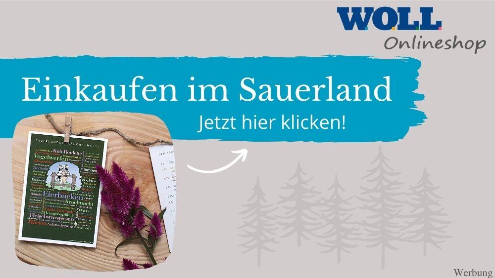 Einkaufen im Sauerland im WOLL Onlineshop (Werbung)