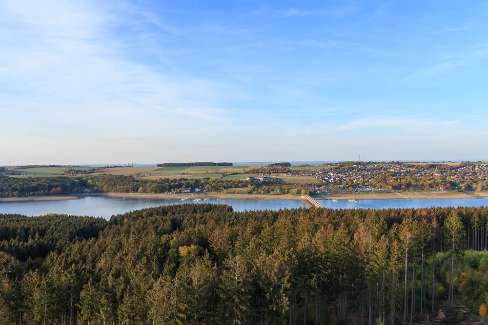 Toller Blick vom Aussichtsturm auf den Möhnesee