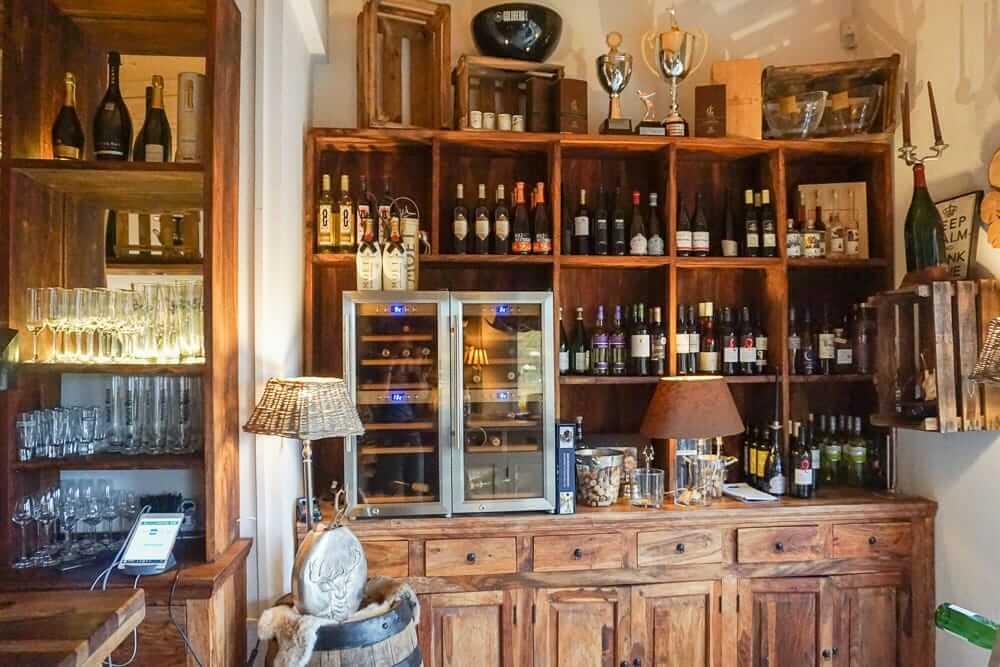 Eingangsbereich in der Gastronomie Weitblick in Amecke am Sorpesee