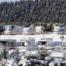 Blick auf den Wohnmobilpark Winterberg im Schnee
