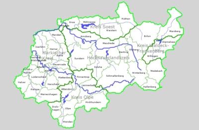 Wo liegt das Sauerland? Eine Übersicht welche Orte und Gemeinden zum Sauerland gehören