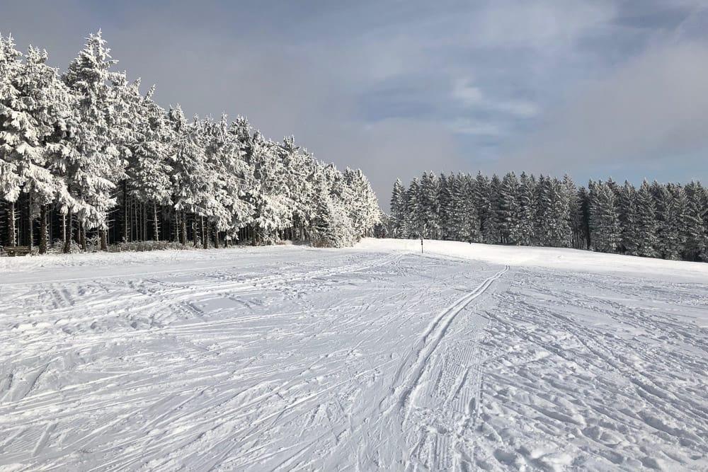 Eine Langlaufloipe in Winterberg im Sauerland