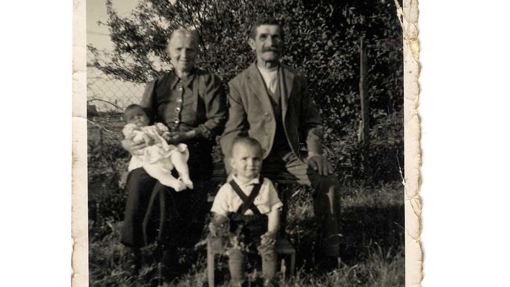 Friedliche Familienidylle in Schlesien