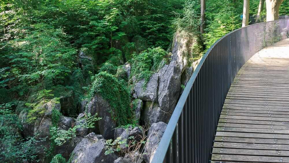 Blick von der Brücke Felsenmeer Hemer