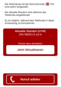 Notruf Funktion im Sauerland App